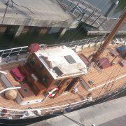 Renovatie dek | oud visserschip 1947
